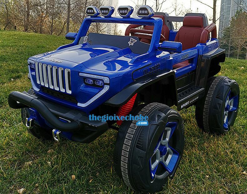 Xe ô tô điện trẻ em BDQ1200 màu xanh