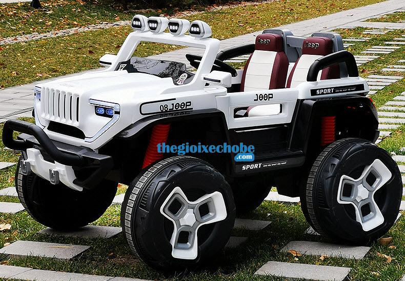Xe ô tô điện trẻ em BDQ-1200 màu trắng
