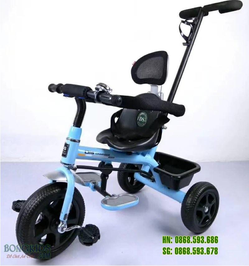 Xe đạp 3 bánh trẻ em DS-919 màu xanh