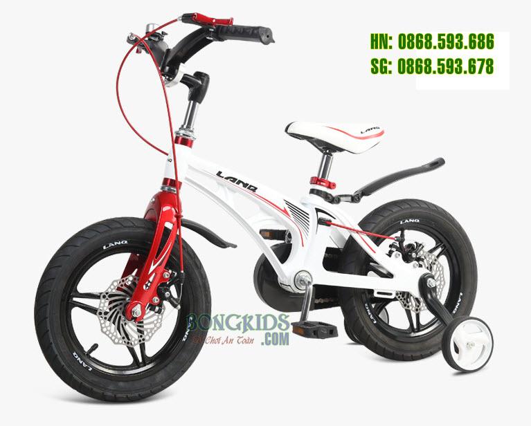Xe đạp trẻ em LANQ 46 màu trắng