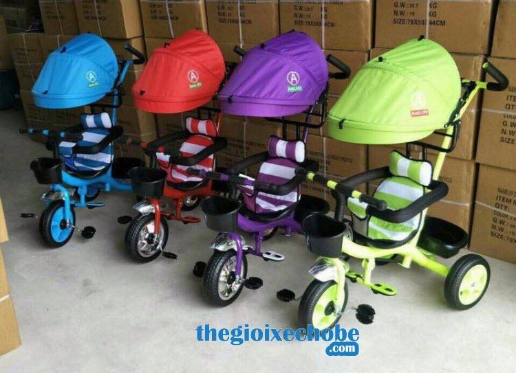 Xe 3 bánh trẻ em 6666 có màu sắc phong phú