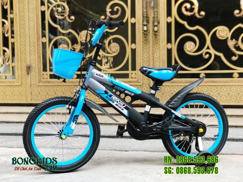 Xe đạp trẻ em Thiết Ngưu màu xanh ngọc