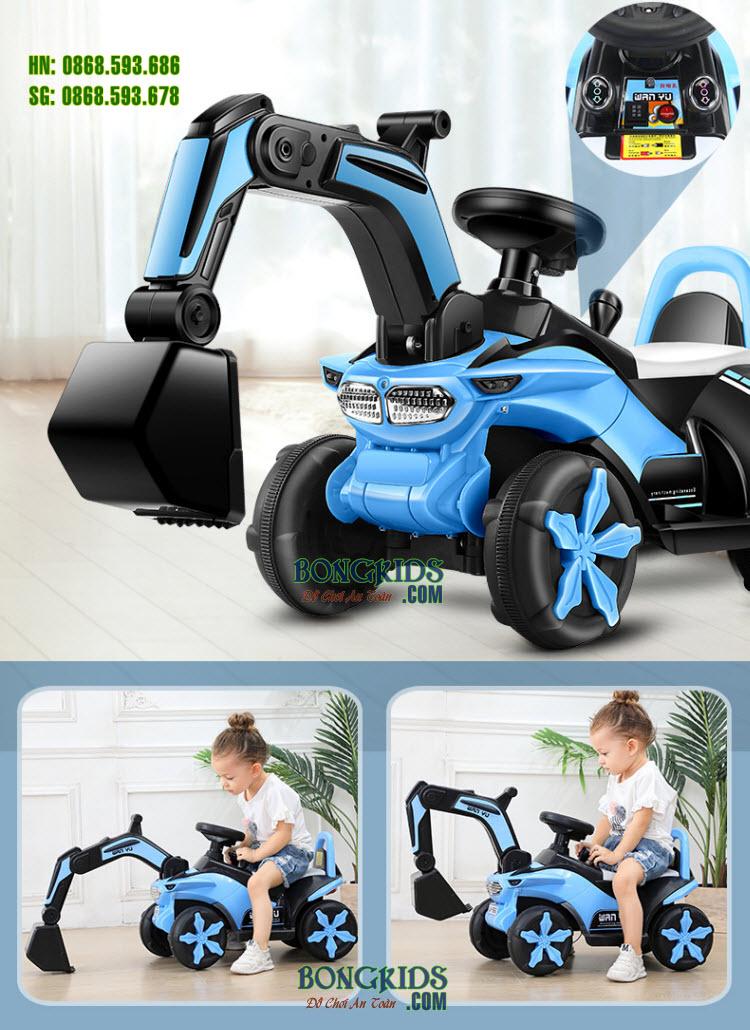 Xe cần cẩu điện trẻ em 6188 - Xe ủi cho bé