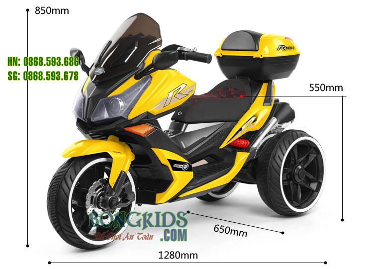 Kích thước Xe mô tô  điện trẻ em AK550