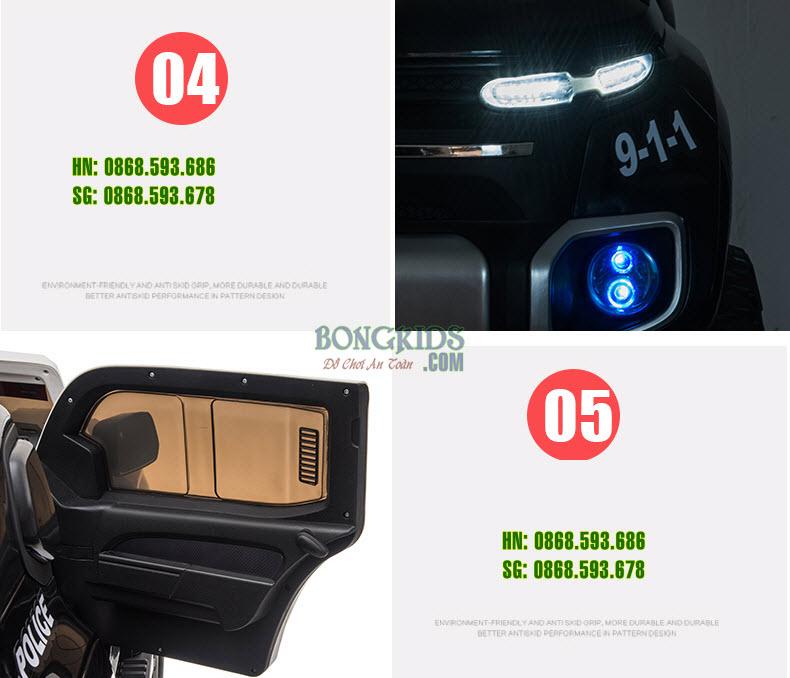 Xe ô tô điện cảnh sát cho trẻ em BLJ-8888B chi tiết